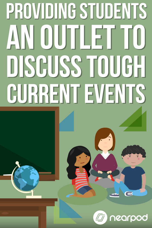 How do you allow students to safely and anonymously discuss tough current events and topics that could be causing worry, angst or other emotional feelings? | classroom management