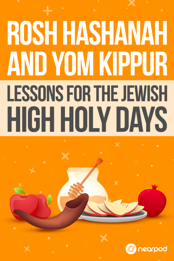 Lesson plans and technology activities for Rosh Hashanah and Yom Kippur.