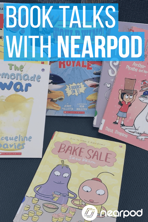 Use Nearpod for book talks! Shake up your literacy centers and media center activities by integrating technology in the classroom.