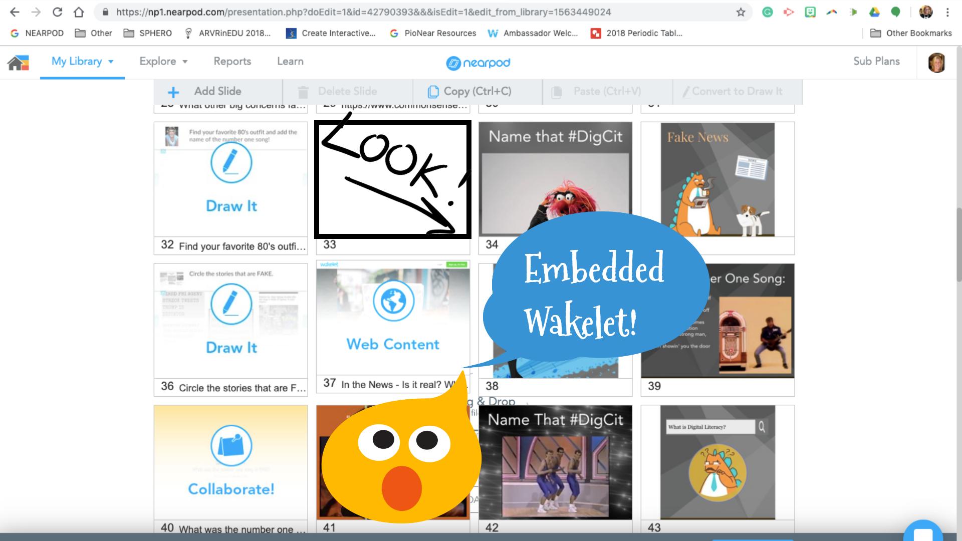 App-smashing Nearpod Wakelet embed