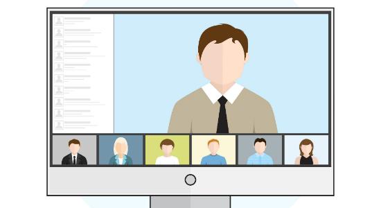 Teachers on an online meeting - thumb