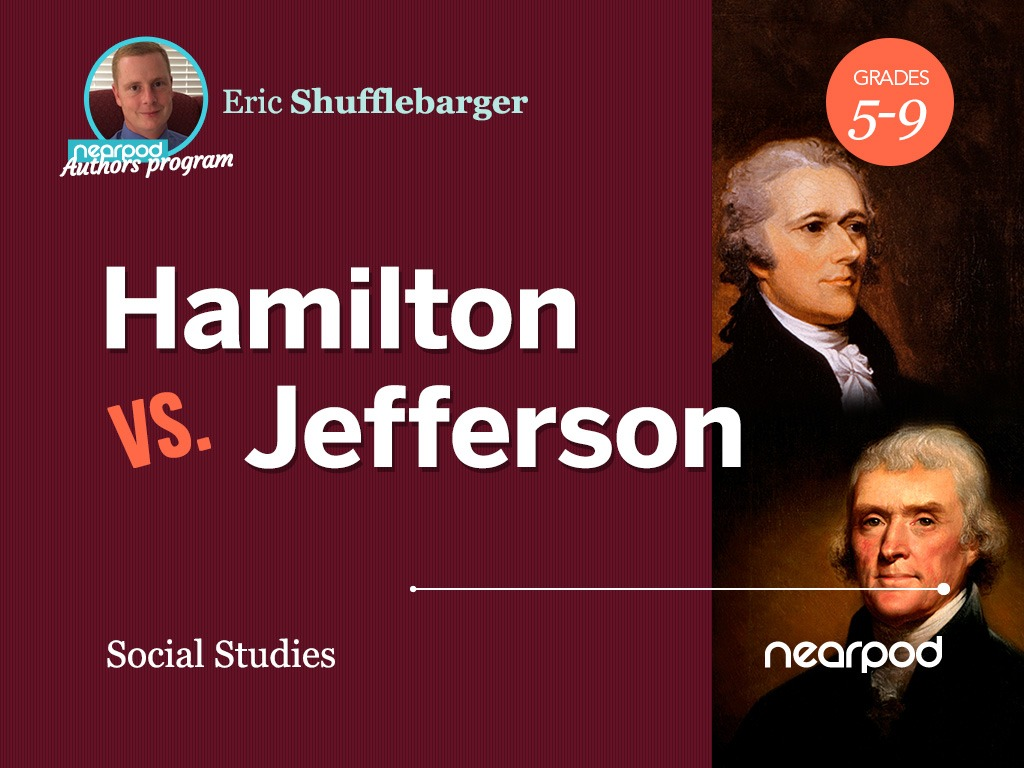 Hamilton vs Jefferson lesson cover